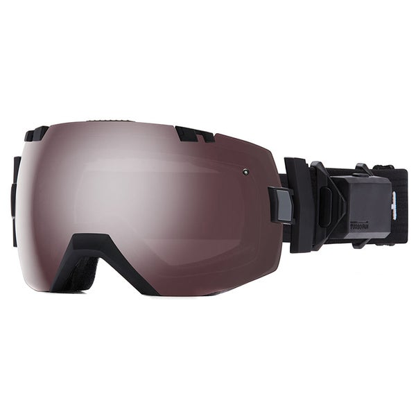 Smith I/O x Turbo Fan Black 807 0S Ignitor Mirror /Red Sensor Mirror Lens Snow Goggles