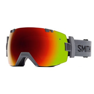 Smith I/O x Charcoal ZX2 C1 Red Sol-X Mirror/Blue Sensor Mirrror Lens Snow Goggles