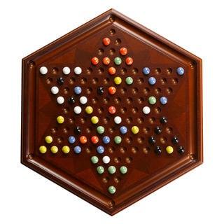 Chinese Checkers - Antique Mahogany
