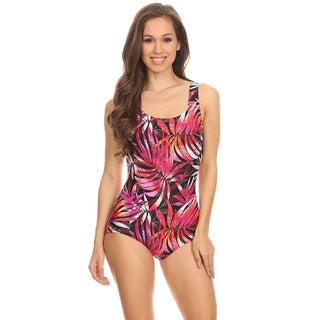 Dippin' Daisy's Orange Leaves One Piece Bathing Suit