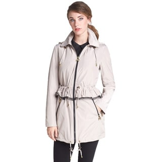 Betsey Johnson Women's Beige Anorak Trench Coat