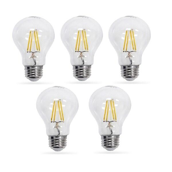 Artiva USA Dimmable Filament LED 2700K Standard 8 Watt Warm E26 Light Bulb (5 pack)