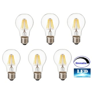 Artiva USA Dimmable Filament LED 2700K Standard 8 Watt Warm E26 Light Bulb (5 pack)
