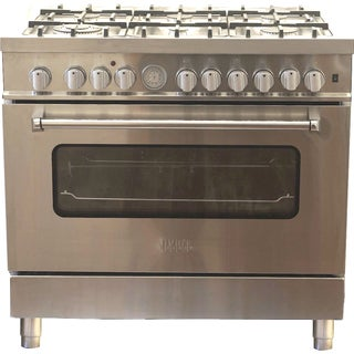 New Hypotheory 36-inch Stainless Steel Professional Style Liquid Propane Dual Fuel Range