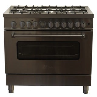 New Hypotheory 36-inch Stainless Steel Professional Style Natural Gas Dual Fuel Range