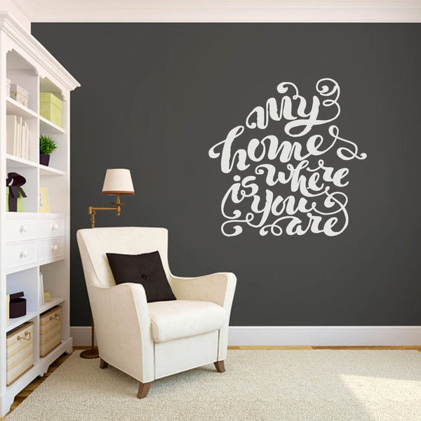 My Home Is Where You Are Medium Wall Decal