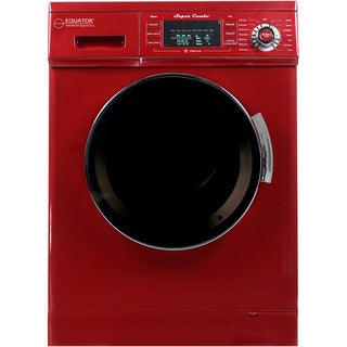 Equator 13 lbs/1.57 cu.ft. Merlot Convertible Combo Washer Dryer with Optional Venting/ Condensing Drying