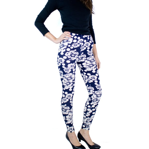 Le Nom Soft Feel Floral Leggings (One Size Fits Most)