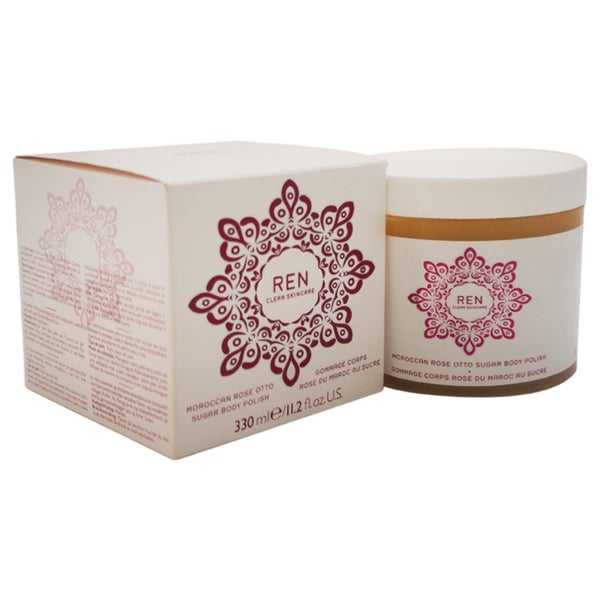 REN Moroccan Rose Otto Sugar 11.2-ounce Body Polish
