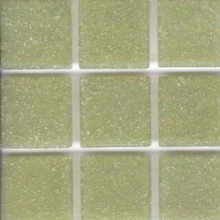 Brio Pear Green Glass 3/4 Inch Mosaic Tile