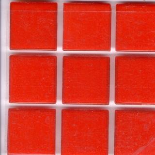 Brio Paprika Red Glass 3/4 Inch Mosaic