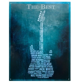 Vintage Metal Art 'The Best Guitarist' Decorative Tin Sign