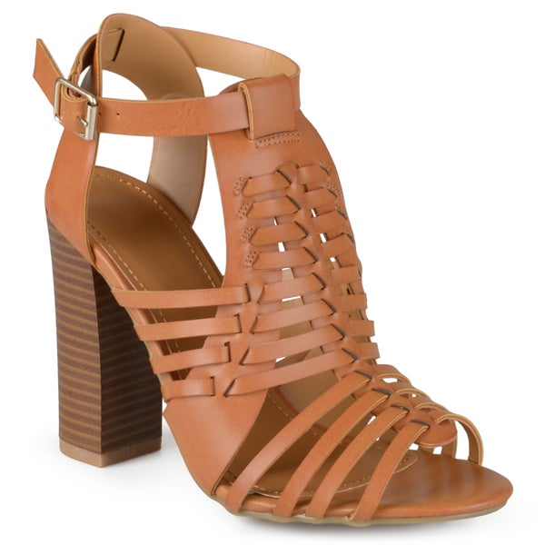 Journee Collection Women's 'Romy' Strappy High Heeled Sandals
