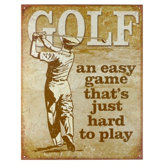 Vintage Metal Art 'Golf Easy' Decorative Tin Sign