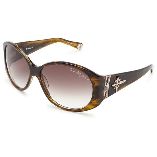 True Religion Madison Smoke Tort Sunglasses