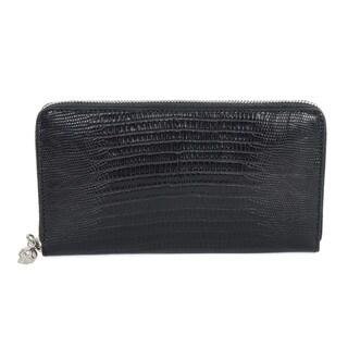 Alexander McQueen Long Round Zip Wallet