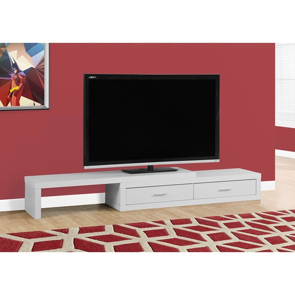 Expandable White TV Stand