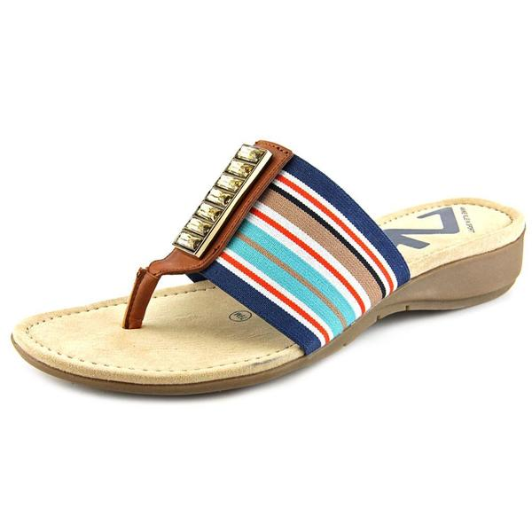 Anne Klein Sport Women's 'Kno How' Basic Textile Sandals (As Is Item) Multi-Colored - Size 8