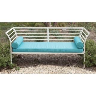 International Caravan Iron Foot Of Bed Bench With