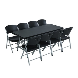 Lifetime 6-Foot Stacking Table and Chair Combo