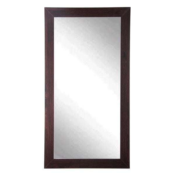 Walnut Brown Tall Rectangular Mirror
