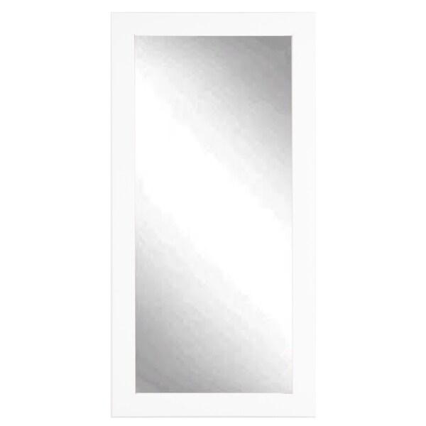 Pro White Rectangular Leaning Floor Mirror