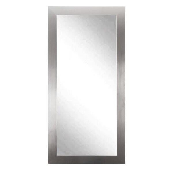 Grand Silvertone Leaning Floor Mirror