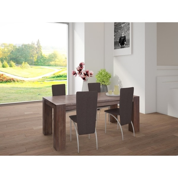 scandinavian lifestyle acacia wide leg large dining table. Black Bedroom Furniture Sets. Home Design Ideas