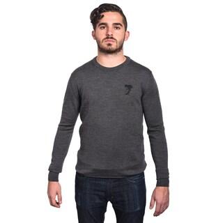 Versace Collection Men's Grey Wool Medusa Head Crew Neck Sweater