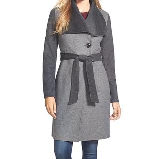 Vera Wang 'Diane' Women's Lightweight Wool Wrap Coat