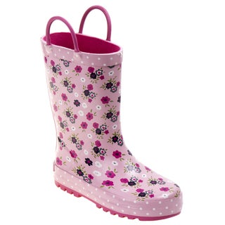 Laura Ashley Girls' Floral Polka Dot Rain Boots