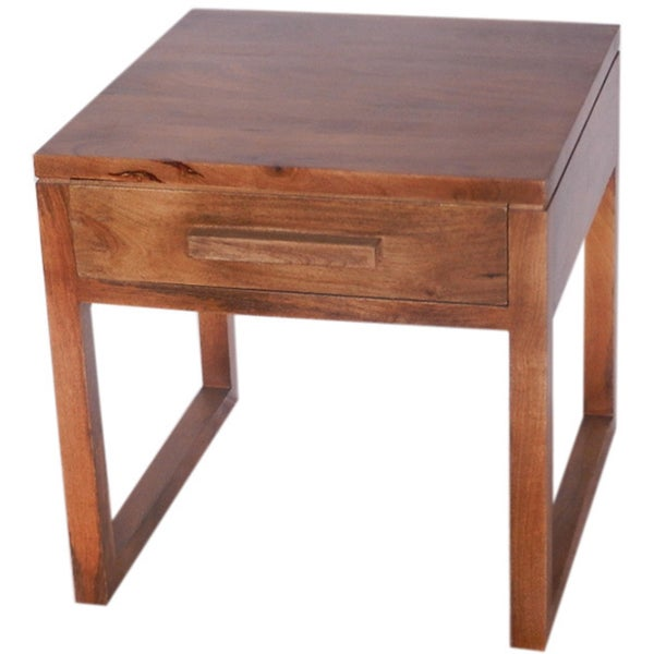 The Urban Port Brand Alluring Side Table with Single Drawer