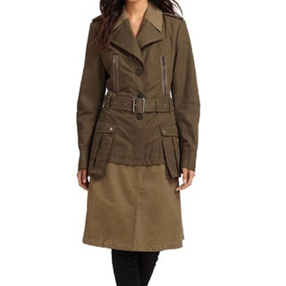 BCBGMaxAzria Willow Khaki Trench Coat (Size XXS)