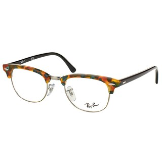 Ray-Ban Clubmaster RX 5154 5493 Green Havana And Gunmetal Clubmaster Plastic 49mm Eyeglasses