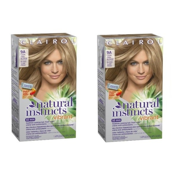 Clairol Natural Instincts Vibrant Permanent Hair Color 9A Alive with Light Cool Blonde 1 Kit (Pack of 2)
