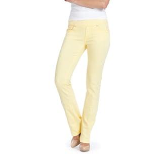 Bluberry Women's Mellow Yellow Straight Leg Denim Jeans