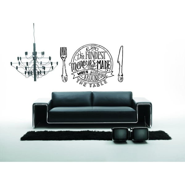 Memories Are Made Gathered Around the Table Wall Art Sticker Decal