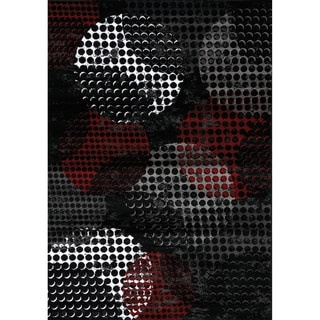 Plait Industrial Red Black Crate Rug (2'8 x 4'11)