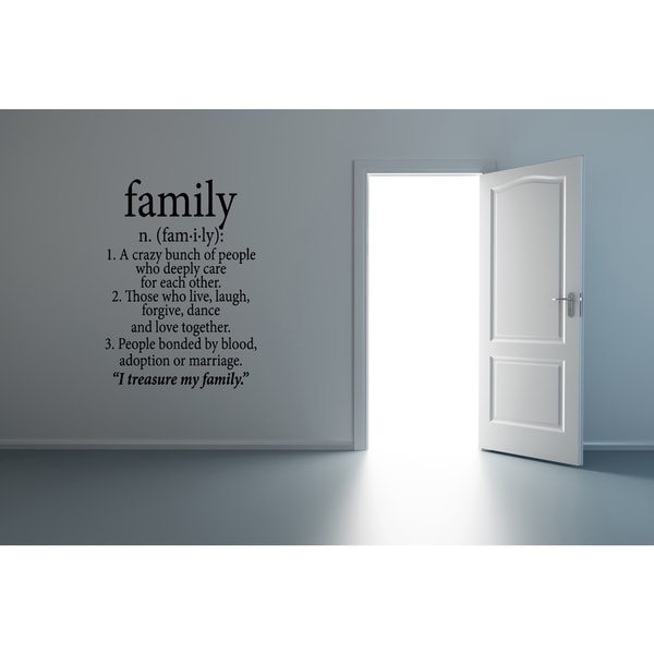 Family Definition my family quote statement Wall Art Sticker Decal