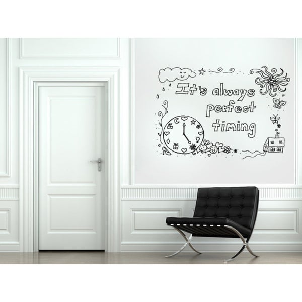 it's always perfect timing quote Wall Art Sticker Decal