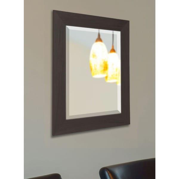 American Made Rayne Black Walnut Beveled Vanity Wall Mirror 17723270