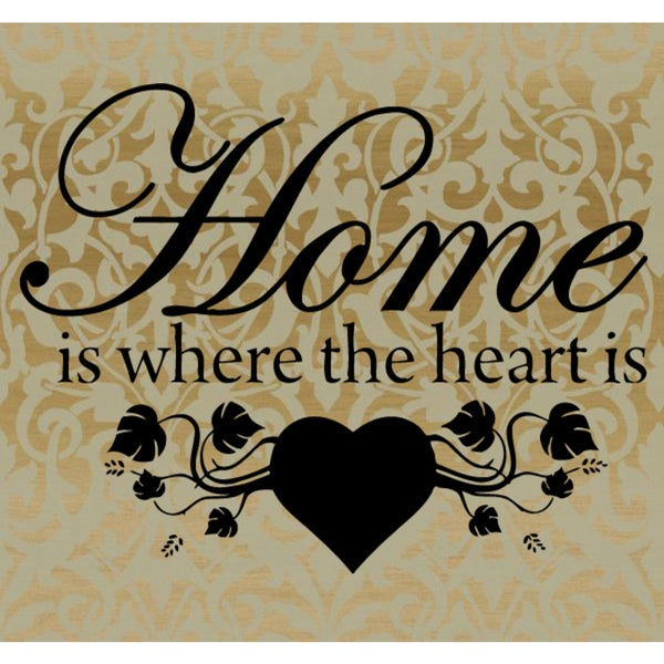 The house is in the heart quote Wall Art Sticker Decal