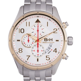 Brandt and Hoffman Men's Sagan Multi-textured Dial Chronograph Watch