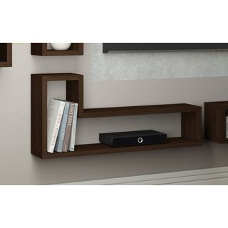 """Accentuations by Manhattan Comfort Barabs Tetris """"L"""" Shaped Floating Wall Mount"""