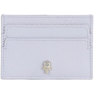 Alexander McQueen Blue Leather Credit Card Holder