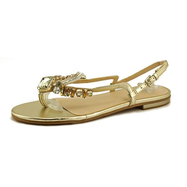 Nine West Women's 'Zui' Gold Synthetic Sandals