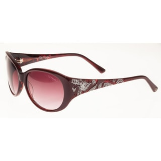 Ed Hardy Big Dragon Red Burgundy Red Gradient 58 16 135 Sunglasses