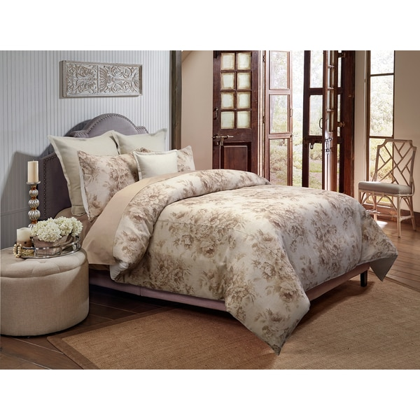 Grand Luxe Belle Jour 3-piece Linen Duvet Cover Set