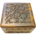 Hand Carved Rosewood Box (India)