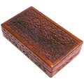Hand-carved Rosewood Box (India)